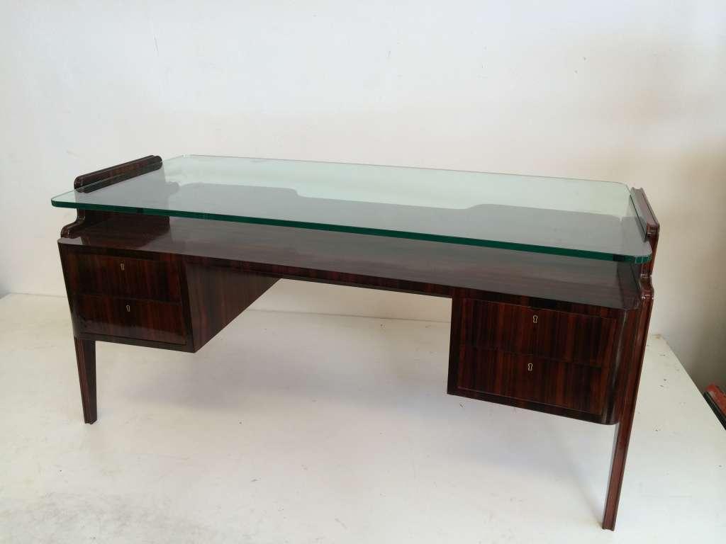 desk rosewood restored  50s